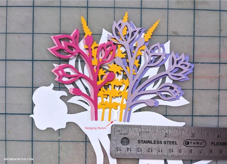 DIY Flower Garden Fairy hanging notch