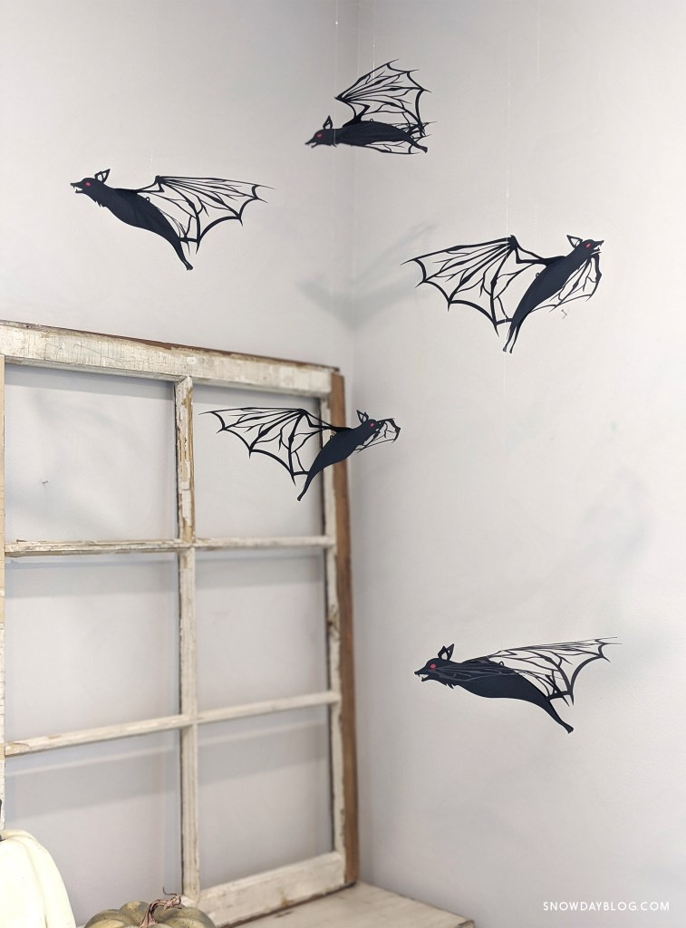 flying bats decoration