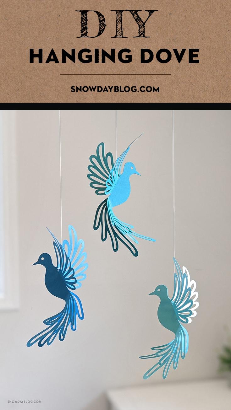 Hanging Dove Pinterest DIY