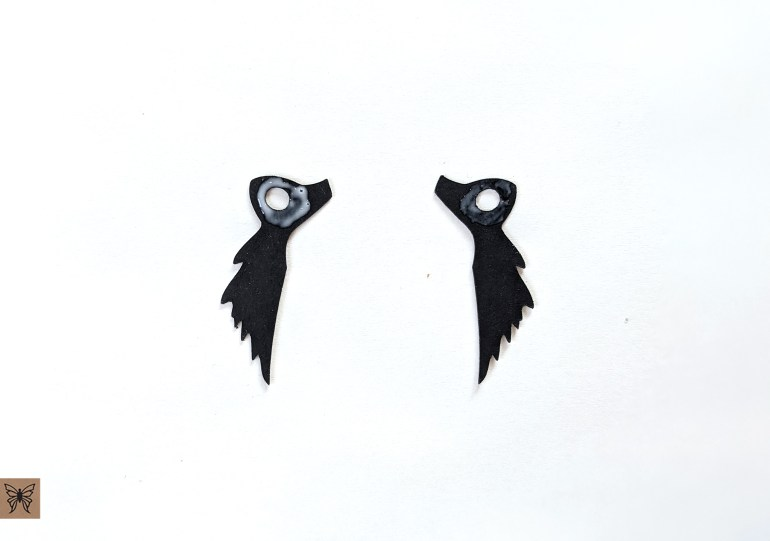 black feather pieces