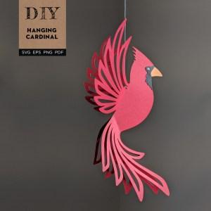 cardinal svg, diy cardinal, cardinal template