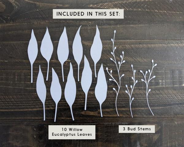 Leaf cutouts in design set