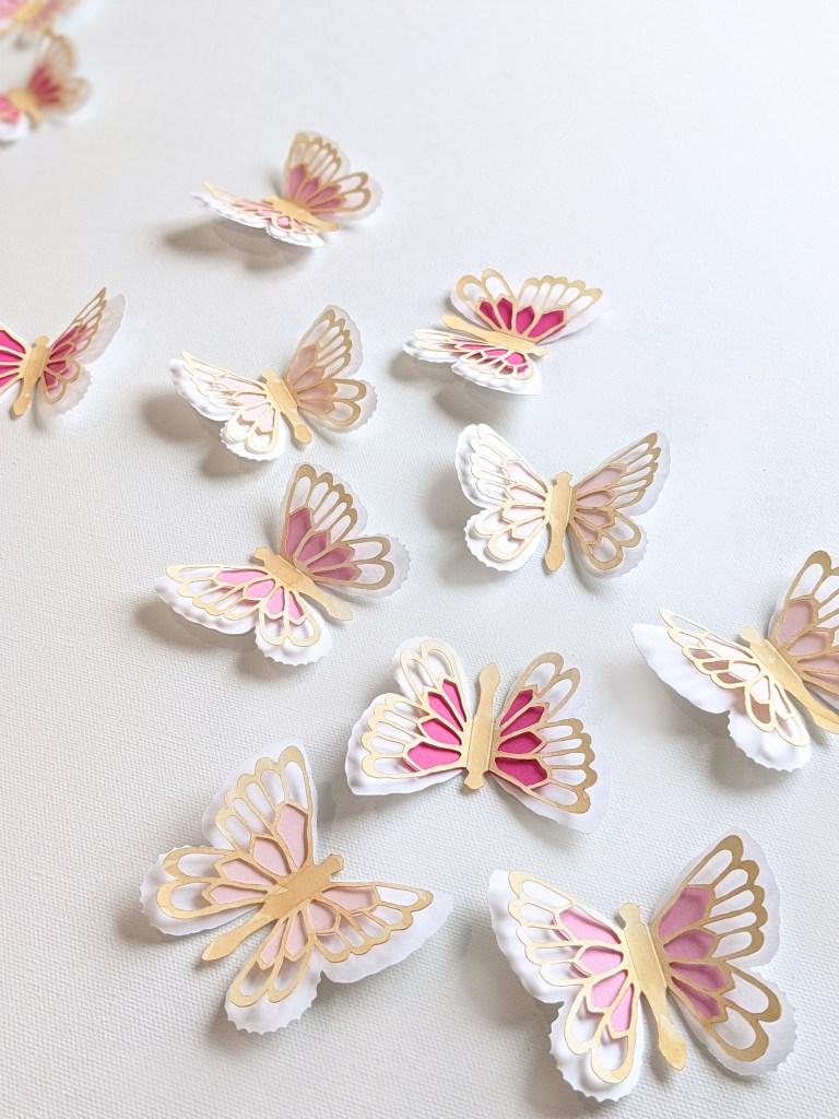 Abigail butterflies pink set