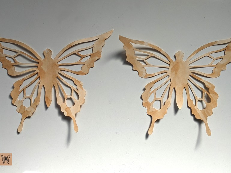 tea stained butterfly cutouts