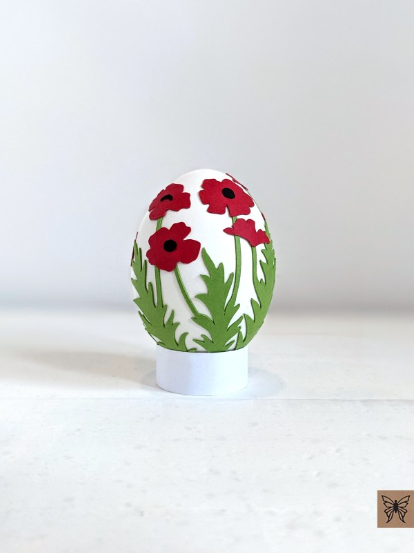 Easter Egg Poppy Wrap SVG
