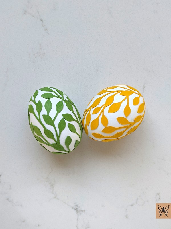 Chaiv Leaf Wrap Easter Eggs green and yellow