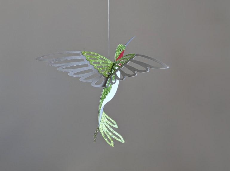 Back of hummingbird decoration