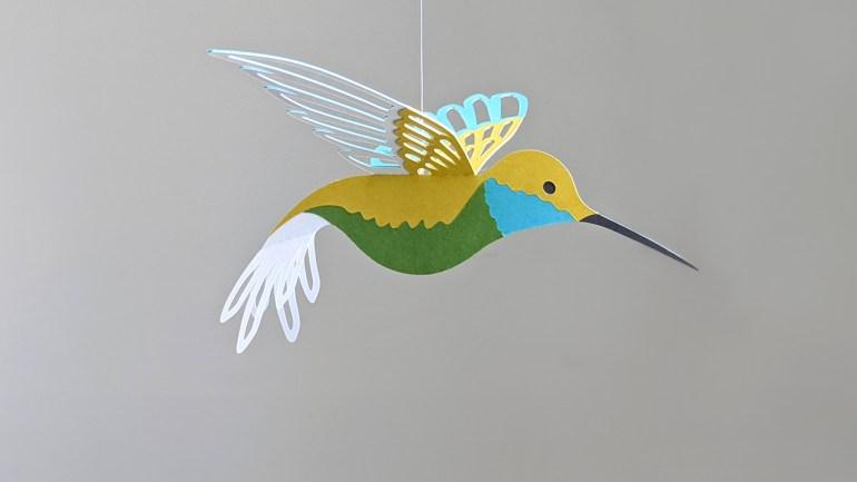 hummingbird svg, yellow