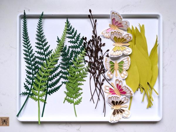 Spring wreath SVG cutouts
