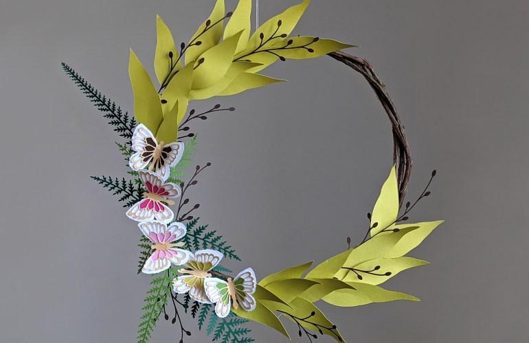 DIY Spring Wreath SVG