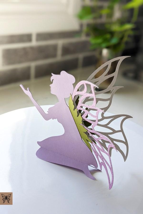 Lilac place card fairy