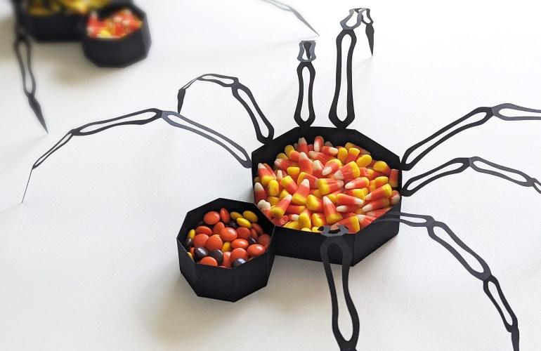 Free Halloween SVG Spider Candy Bowl craft