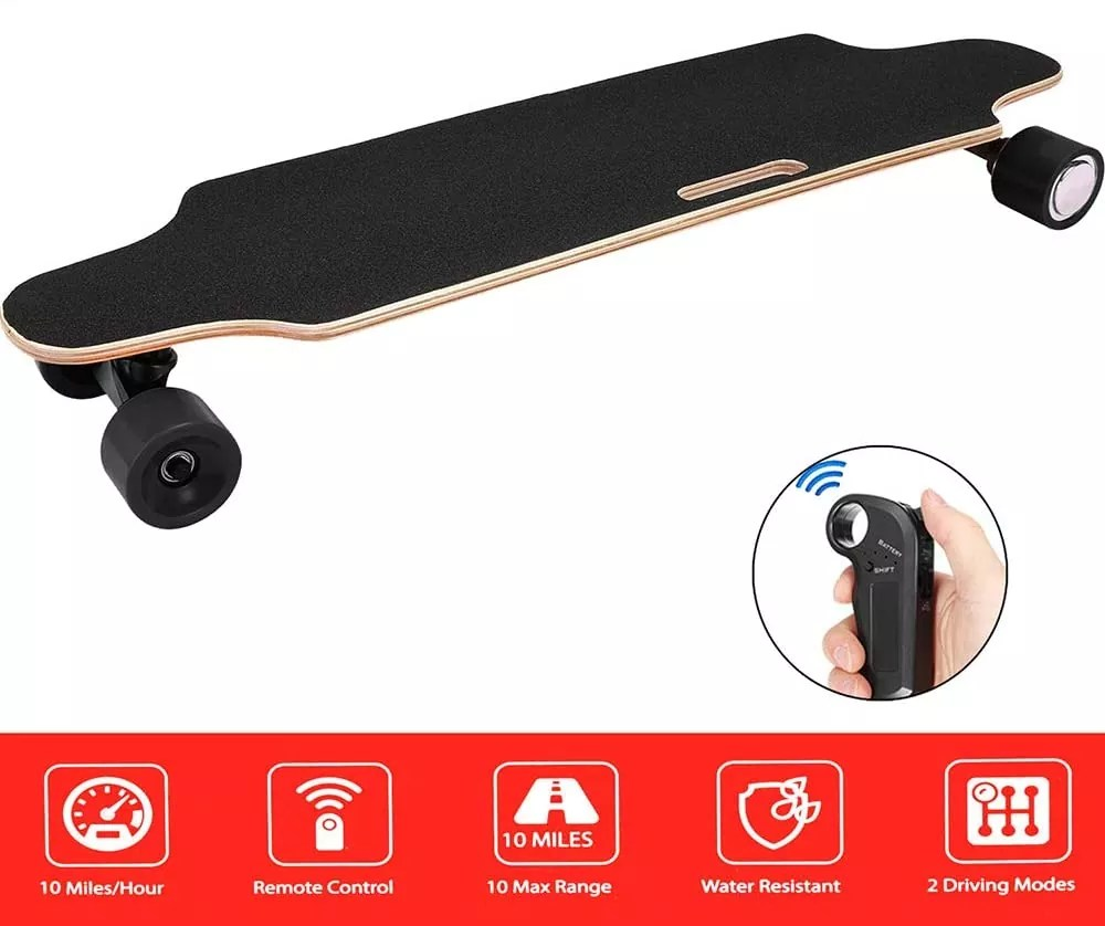 Aceshin Electric Skateboard Longboard with Remote Small