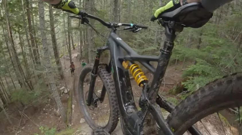 Downhill ride is much safer with an e-Mtb