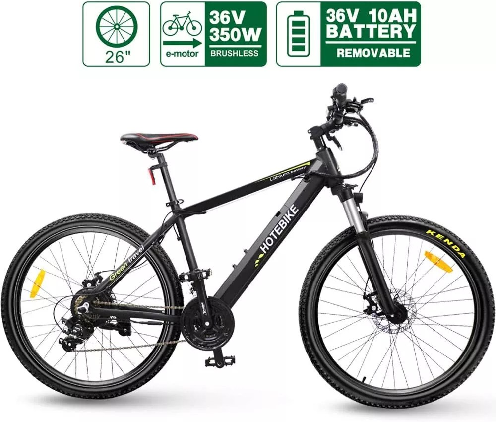 "HOTEBIKE 26"" City Electric Bike 36V 350W Electric Mountain Bike"