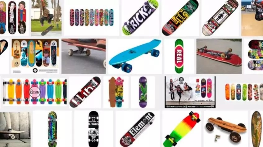 Different types of skateboard