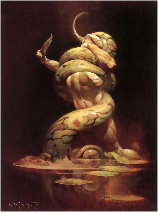 Serpent by Frank Frazetta