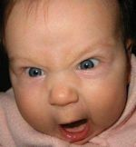 Angry Baby is angry.