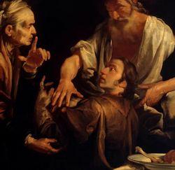 Isaac Blessing Jacob. Gioachino Assereto 1640.