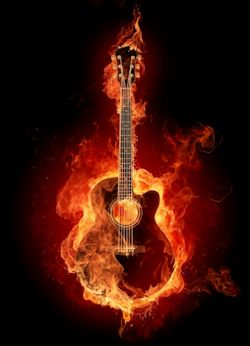 Burning Guitar Mouse pad