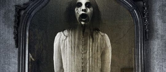 Bloody Mary in the mirror, famous ghost of folklore, a recurring theme of popular paranormal culture.