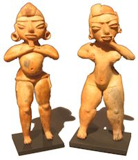 God and goddess figures from the Tlatilco culture of central Mexico. Snite Museum of Art, University of Notre Dame.