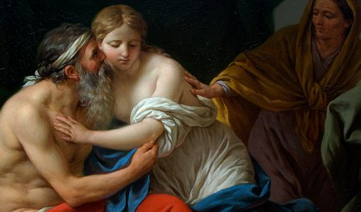 Sarah Presenting Hagar to Abraham. Louis-Jean-François Lagrenée (1724 – 1805).