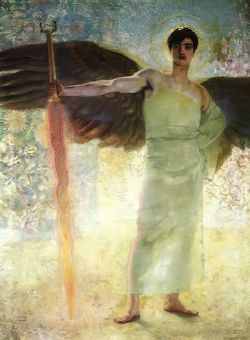 The Guardians of Paradise, painting by Franz Von Stuck (1863-1928)