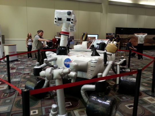 Blow-up Rover is adorable. Photo by Brad Snowder