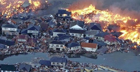 Tens of thousands of buildings destroyed in northern Japan.
