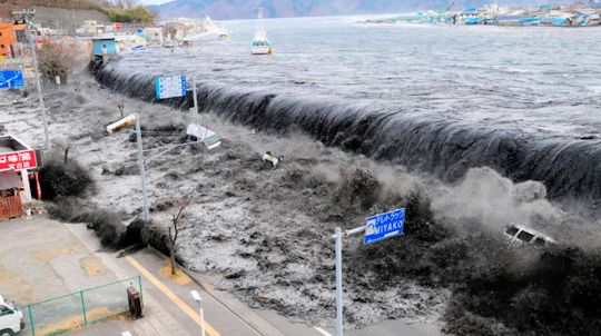 Earthquake near Japan causes devastating tsunami.