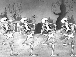 Oh hear da word of da lord (The Skeleton Dance, 1929).