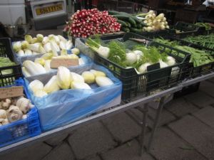 Winter season veggies such as endive were plentiful