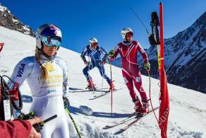 Lindsey Vonn avec les descendeurs norvégiens - Photo Selko - Page FB Lindsey Vonn