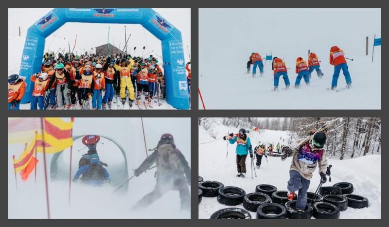 snowboard-fun-enfants-skieurs-course-folle