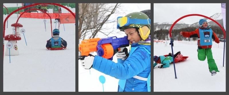 snowboard-fun-enfants-skieurs-course-folle-jeux-déguisement