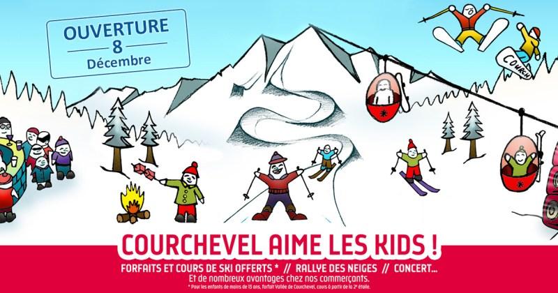 Le 8 décembre 2018, Courchevel invite les enfants