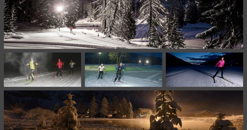 Découvrez le ski de fond nocturne gratuitement avec Savoie Mont-Blanc Nordic