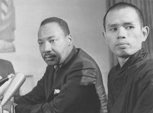 Thich Nhat Hanh together with Dr. Martin Luther King Jur