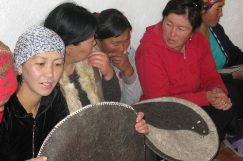 SLE participants in Kyrgyzstan at a product development training.