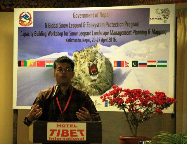 Dr. Koustubh Sharma addresses participants at the Kathmandu workshop