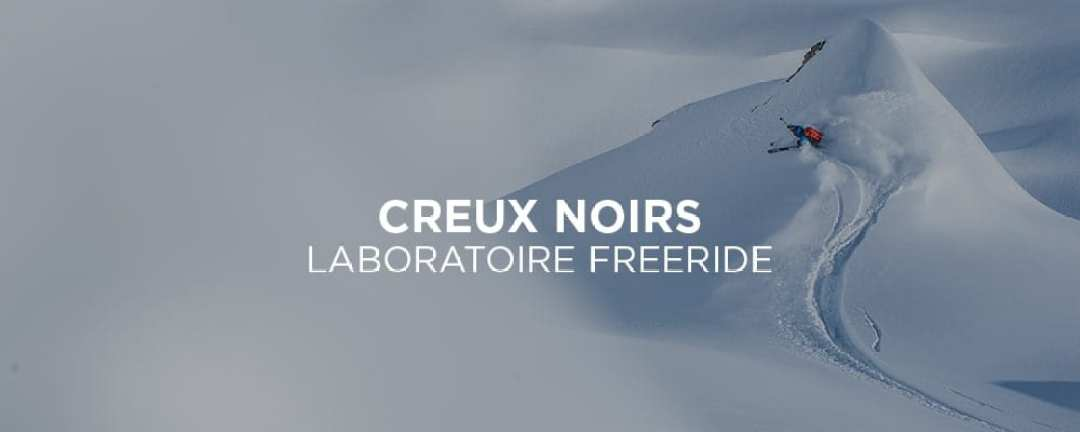 Creux Noirs Freeride Laboratory. Courchevels off-piste and free ride area