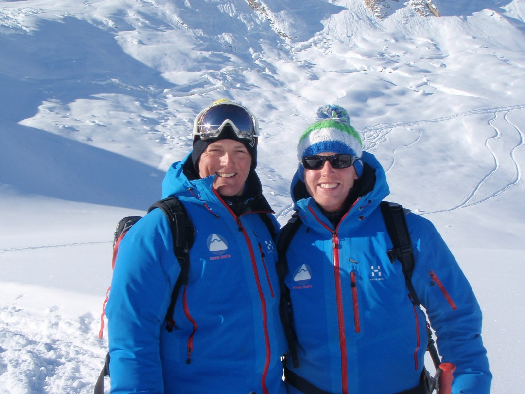 Adrian and I on an off-piste day earlier in the season!