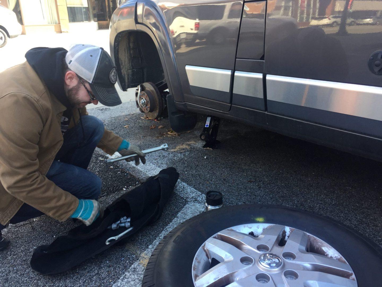 Travato tire change