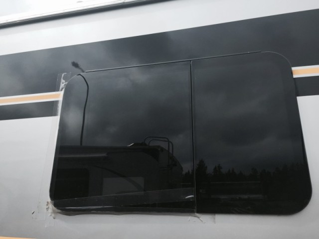 Trek RV frameless window