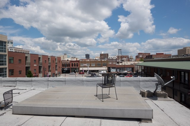 The view of Springfield from the rooftop deck at our loft