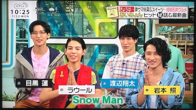テレビ 出演 snowman