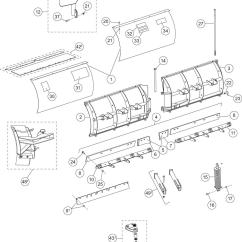 Western Snow Plow Parts Diagram Mono Block Wiring Part 44485 1 Blade Assy 8 5 Mvp Plus Ms