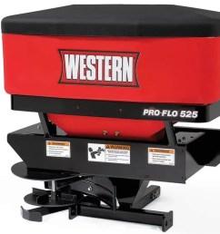 pro flo 525 tailgate spreader 2 1 western pro flo 525 tailgate salt sand spreader snowplowsplus [ 1270 x 714 Pixel ]