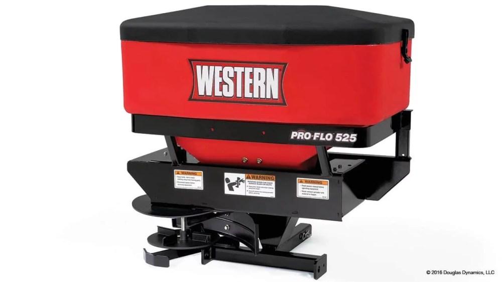medium resolution of  pro flo 525 tailgate spreader 2 1 western pro flo 525 tailgate salt sand spreader snowplowsplus